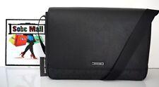 Michael Kors Men's Russel Signature & Leather Black Large Laptop Messenger Bag