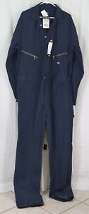 Dickies Men's 7 1/2 Ounce Twill Deluxe Long Sleeve Coverall Navy Size XLXT