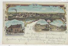 Schackensleben bei Irxleben, Haldensleben Litho mit Steinbruch 1903