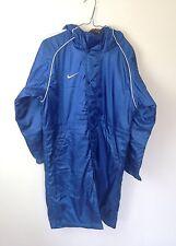 De Colección Azul Brillante Deportes Atléticos Entrenador de fútbol Trinchera Abrigo Chaqueta en muy buena condición XS