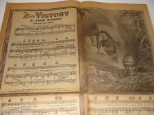 Miss Victory WW II 1942 Newspaper Supplement sheet music, Women in Defense Work