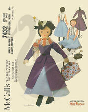 """Vintage Reprint of Mary Poppins17"""" Cloth Doll Sewing Pattern"""