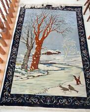 Vintage carpet with winter landscape - FREE SHIPPING