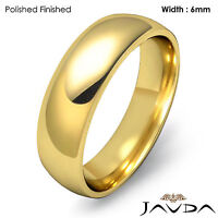 Women 14k Yellow Gold Light Weight Comfort Wedding Band 6mm Ring 6gm Sz 5 - 5.75