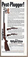 1960 Vintage Ad Marlin Model 101 & 80-C Rifles Pest Possum Steals Chicken