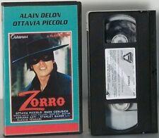 Zorro VHS FILM Duccio Tessari Alain Delon Ottavia Piccolo