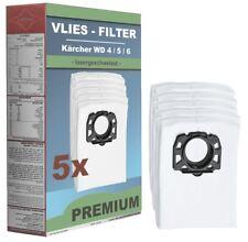 5 x Vliesfilterbeutel Staubsaugerbeutel Kärcher MV 4 / MV 5 / MV 6 / WD Premium