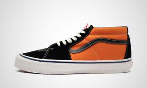Vans Vault Og SK8 LX Mid Skate Shoes Men's Size 12 Exuberance Orange Black