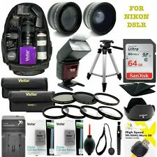NIKON COOLPIX P1000 77MM ULTIMATE HD 64GB ACCESSORY KIT FLASH/LENSES/BACKPACK