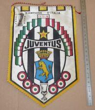 BANDIERINA CALCIO 1977-1978 JUVENTUS CAMPIONE FOOTBALL FANION PENNANT WIMPEL