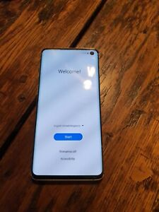 Boxed Samsung Galaxy S10, 128GB, White, Unlocked, Dual SIM,  Screen Damage