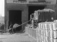 OLD TRAIN PHOTO St Pancras Goods Yard, London, 1933