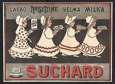WERBUNG 1908, Suchard Cacao Velma Milka, alte Werbeanzeige Reklame /117
