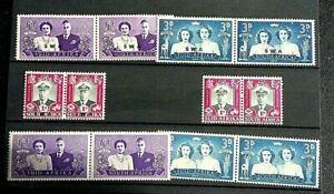 SOUTH AFRICA   STAMPS. 6 PAIRS--GEO V--  VERY FINE MINT/ NOT  HINGED