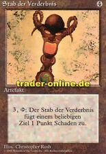 Stab la iniquidad (Rod of ruina) Magic Limited Black bordered German beta fbb F
