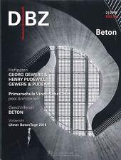 DBZ Deutsche BauZeitschrift 2/2018: Beton  +++ wie neu +++