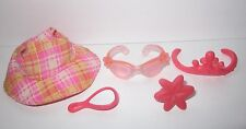 Authentic LITTLEST PET SHOP Dog Cat Rose Pink COLLAR TIARA Lot 5 LPS Accessories