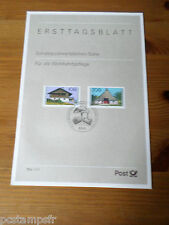ALLEMAGNE FEDERALE, RFA, 1995, FERMES, timbres 1654/1655, DOCUMENT 1° JOUR