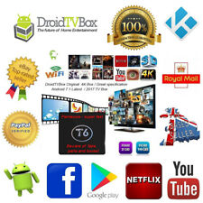 T6 Original 2GB+16GB 4K HD Android 7.1.2 2017 Media Player - DroidTVBox UK