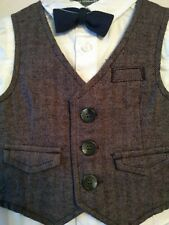 Mothercare Baby Boy Shirt Waistcoat and Bow Tie Set 6-9 months NEW