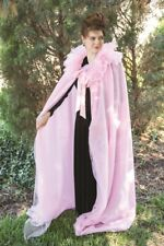 Victorian Trading Co Prima Donna Pink Organza Tulle Halloween Cape Floor Length