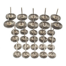 30Pcs 22-38mm Steel Wire Wheel Brushes Set Dremel Accessories For Rotary Tools