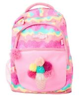 "LATEST! 💗 SMIGGLE ""FAVE'"" LARGE BACKPACK SCHOOL BAG PINK, 🍧 ICE CREAM🍦"