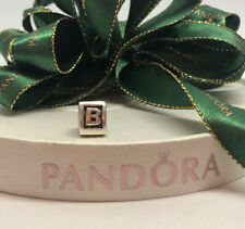 "Pandora Silver Charm ""Letter B"" - 790323B- retired. Authentic Ale 925 Alphabet"