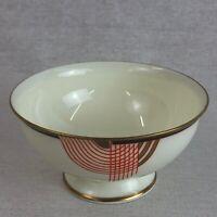 Royal Doulton Tango V1482 Open Sugar Bowl Red Black Gold Art Deco