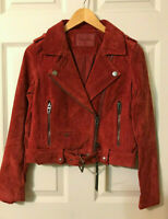 Blank NYC Women's Real Suede Moto Jacket - XS