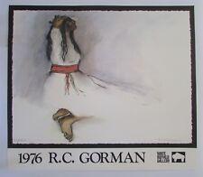 Signed R. C. Gorman White Buffalo Gallery Poster/Print 1976