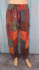 Fair Trade Cargo Combat Trousers Hippy Yoga Boho Travel Festival M, L, XL & XLL