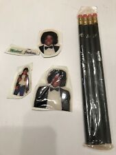 Michael Jackson Collectible Puffy Stickers And Leadworks Gloved Hand Pencil