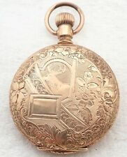 Filled Engraved Deer Hunter Pocket Watch Antique 6S New York Standard Gold