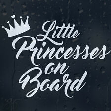 Little Princesses On Board Crown Car Decal Vinyl Sticker For Bumper Or Window