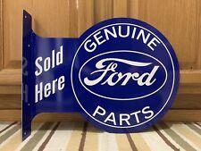 Ford Genuine Parts Sold Here Vintage Style Flange Garage Bar Pub Metal Signs