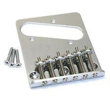 Chrome 6-saddle Bridge for Import Fender/Squier Telecaster/Tele® TB-5034-010