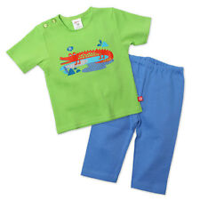 Zutano Crocs Baby Top and Bottom Set 6 Months Green/Blue NWT R$39.99