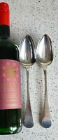 1809 Pair ENGLISH PROVINCIAL,EXETER SILVER LARGE SERVING SPOONS WILLIAM WELCH II