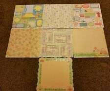 BEST CREATION  SUMMERTIME 12X12  GLITTER CARDSTOCK LOT 13 SHEETS   CRAFTS CARDS