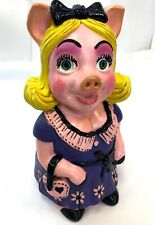 "Vintage 14"" International Statue 1979 Miss Piggy Chalkware Plaster Bank Figure"