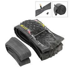 "Black 26 x 1.95""Studded Mountain Bike Tyres Tires & Schrader Tubes -Bike Tyre"