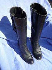 Femme DOROTHY PERKINS Cuir Noir Bottes hautes Taille UK 4.5 Euro 37