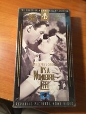 It's A Wondeful Life (VHS) James Stewart, Donna Reed, Frank Capra...123