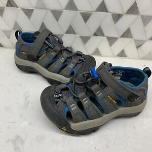 Toddler KEENS Keen Water Shoes Blue Gray Newport H20 Size 9 Boys Unisex