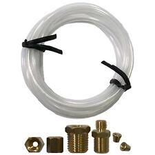 "Mechanical Oil Pressure Gauge 72"" Inch Nylon Line Tubing Install Kit w/ Fittings"