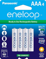 Panasonic BK-4MCCA4BA eneloop AAA 2100 Cycle Ni-MH Pre-Charged Rechargeable Pack
