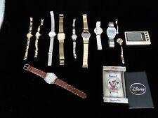 Vintage Watch Timepiece Lot of 12, Bulova Elgin Nelsonic Caravelle Disney Seiko