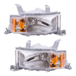Fits Scion xB 04-06 Set of Headlights Headlamps w/ Housing 8117052440 8113052440
