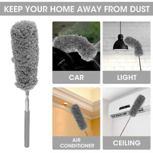 Extendable Feather Duster Telescopic Long Handle Microfiber Cleaning Magic Brush